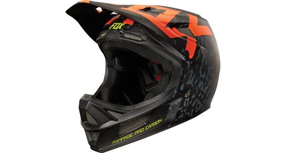 Fox Rampage Pro Carbon Cauz Downhill hjelm Herrer orange/sort